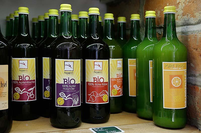 Bio-Fruchtsäfte von Hasenfit