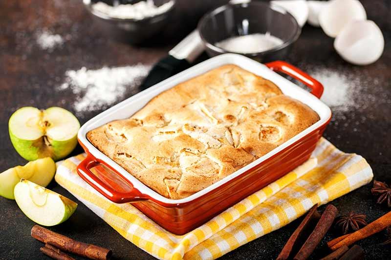 Rezept Apfel-Gries-Kuchen